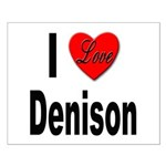 I Love Denison Small Poster
