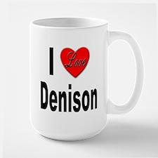 I Love Denison Large Mug