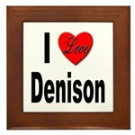 I Love Denison Framed Tile
