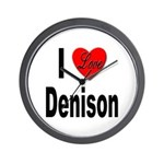 I Love Denison Wall Clock