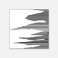 "Black and white stripes Square Sticker 3"" x 3"""