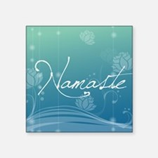 "Namaste Jewelry Case Square Sticker 3"" x 3"""