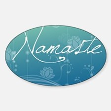 Namaste Glass Cutting Board Large Sticker (Oval)