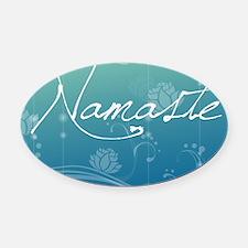 Namaste Glass Cutting Board Large Oval Car Magnet