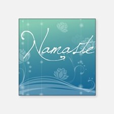 "Namaste Cloth Napkins Square Sticker 3"" x 3"""