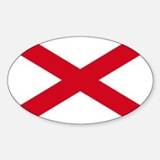 St Patrick's cross Oval Decal