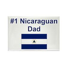 #1 Nicaraguan Dad Rectangle Magnet