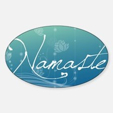 Namaste Car Magnet 20 x 12 Sticker (Oval)
