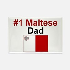Maltese #1 Dad Rectangle Magnet