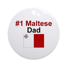 Maltese #1 Dad Keepsake Ornament