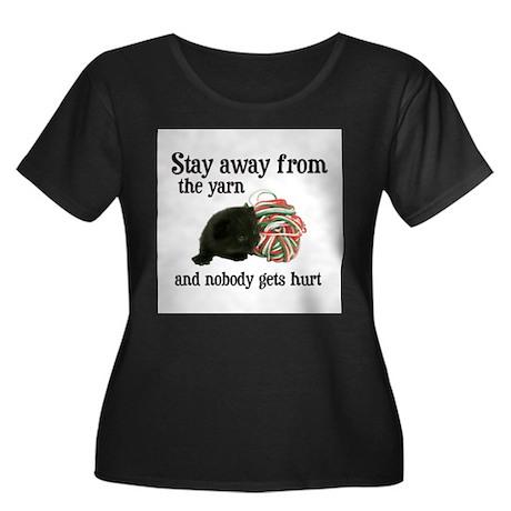 Stay Away From The Yarn Women's Plus Size Scoop Ne
