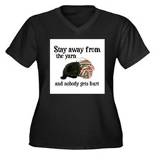 Stay Away From The Yarn Women's Plus Size V-Neck D