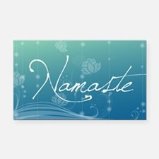 Namaste 20x12 Oval Wall Decal Rectangle Car Magnet