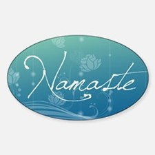 Namaste 20x12 Oval Wall Decal Sticker (Oval)