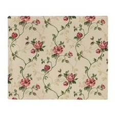 victorian climbing roses Throw Blanket