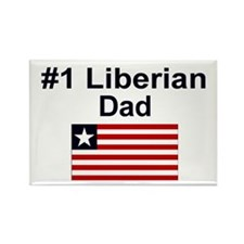 Liberian #1 Dad Rectangle Magnet