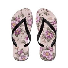purple flowers Flip Flops