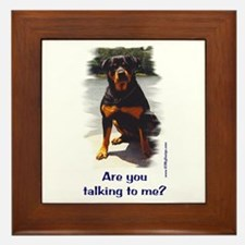Are you talking to me? Framed Tile