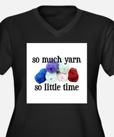 So Much Yarn, So Little Time Women's Plus Size V-N