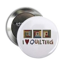 "I Love Quilting 2.25"" Button (10 pack)"