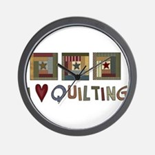 I Love Quilting Wall Clock