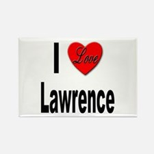 I Love Lawrence Rectangle Magnet