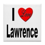 I Love Lawrence Tile Coaster
