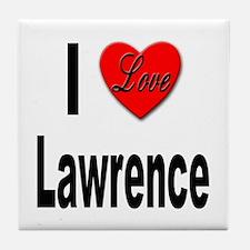 I Love Lawrence Tile Coaster