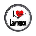 I Love Lawrence Wall Clock
