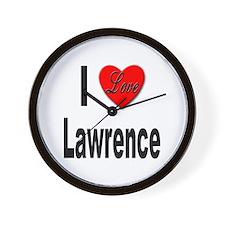 I Love Lawrence Wall Clock