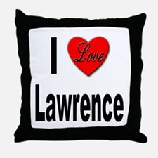 I Love Lawrence Throw Pillow