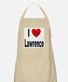 I Love Lawrence BBQ Apron