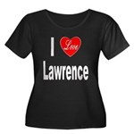 I Love Lawrence (Front) Women's Plus Size Scoop Ne
