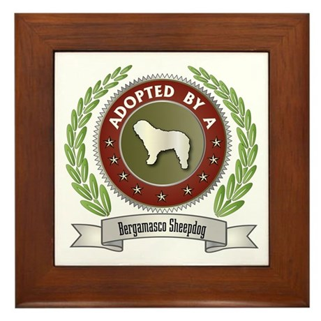 Bergamasco Adopted Framed Tile