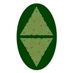 Arboreal Triangle Knot Oval Sticker