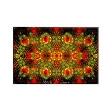 Fractal Julian Gems Kaleidoscope  Rectangle Magnet