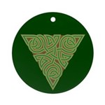 Arboreal Triangle Knot Ornament (Round)