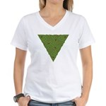 Arboreal Triangle Knot Women's V-Neck T-Shirt