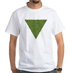 Arboreal Triangle Knot White T-Shirt