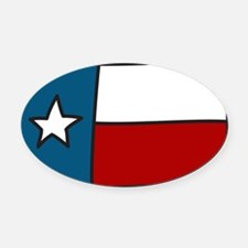 Texas Flag Oval Car Magnet