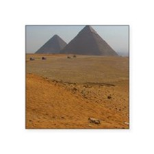 "Great Pyramids at Giza Egyp Square Sticker 3"" x 3"""