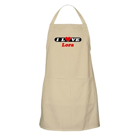 I Love Lora BBQ Apron