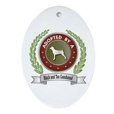 Black and Tan Adopted Oval Ornament
