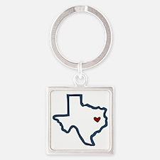 Texas Square Keychain