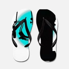 vent blue black phone Flip Flops