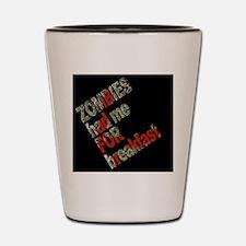 ZombiesSidewaysBLK Shot Glass