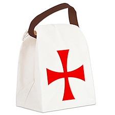 Templar Red Cross Canvas Lunch Bag