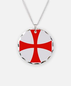 Templar Red Cross Necklace
