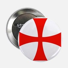 "Templar Red Cross 2.25"" Button"
