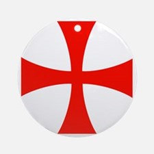 Templar Red Cross Round Ornament